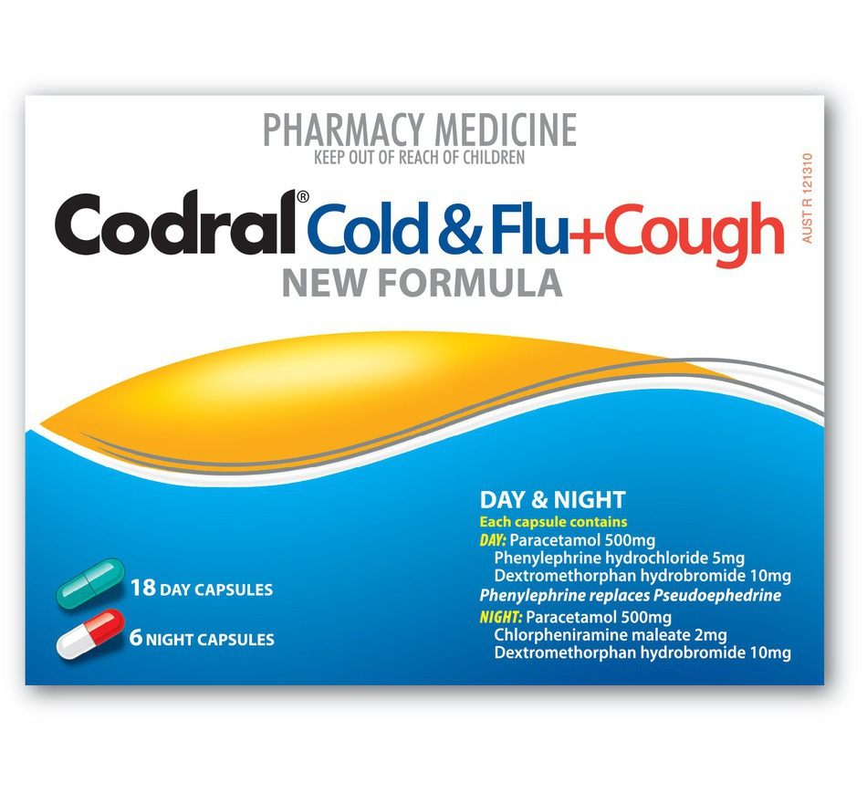 Codral Pe Cold & Flu Tablets Plus Cough Day/Night 24 - Mapua