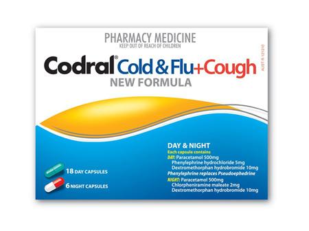 Codral PE Cough & Cold + Flu - Day & Night - 24 capsules
