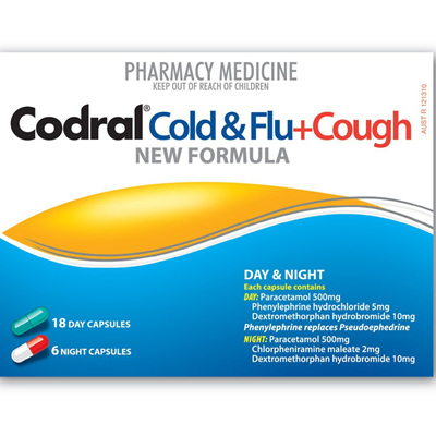 Codral PE Cough & Cold + Flu - Day & Night - 24 capsules