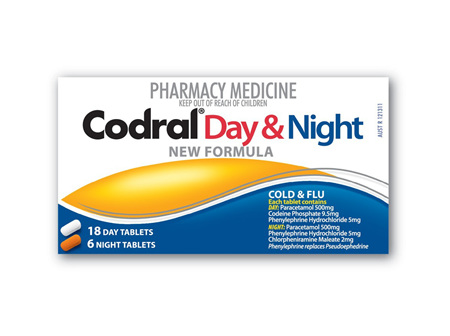 Codral PE Day and Night Tablets 24 New Formula