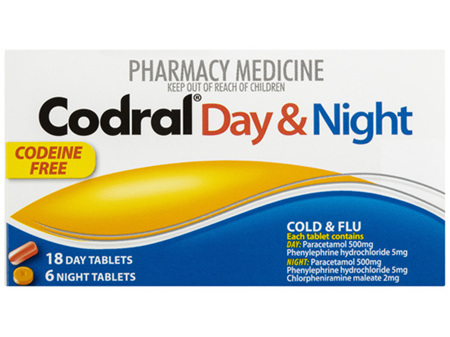 CODRAL PE Day & Night C.F. Tabs 24