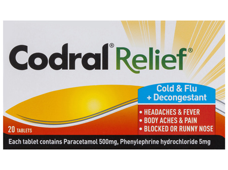 Codral Relief Cold & Flu 20 Pack