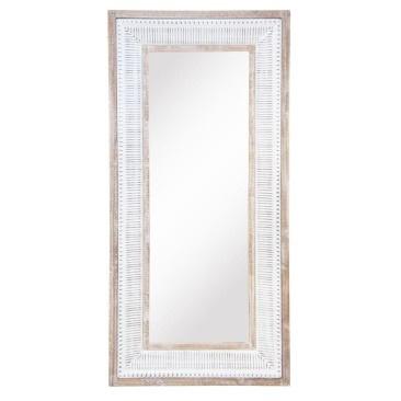Cohen Mirror - Wood & White Enamel - 73.5x155cmh