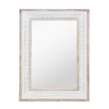 Cohen Mirror - Wood & White Enamel - 79x109cmh