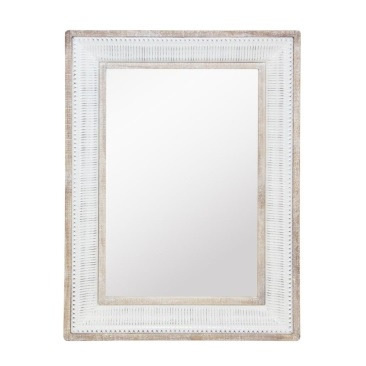 Cohen Mirror - Wood & White Enamel - 79x109cmh
