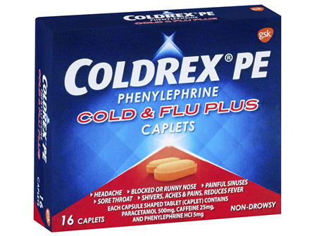 Coldrex PE Cold & Flu Plus Caplet 16s