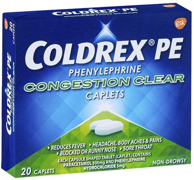 Coldrex PE Congestion Clear Caplet 20s