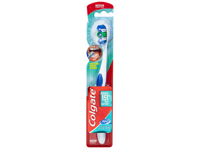Colgate 360° Whole Mouth Clean Compact Head Toothbrush Medium