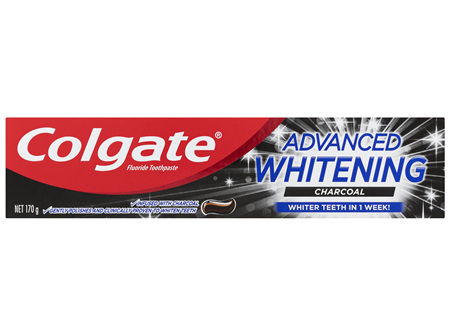 Colgate Advanced Whitening Teeth Whitening Toothpaste Charcoal 170g