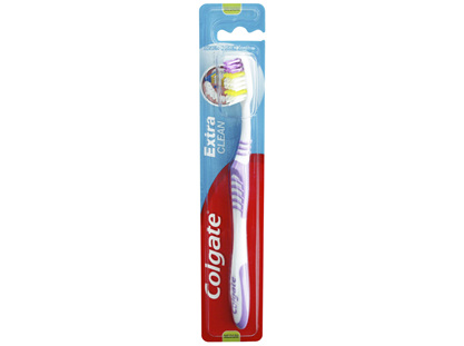 Colgate Extra Clean 25% Recycled Plastic Handle Medium Bristles Manual Toothbrush 1 Pack