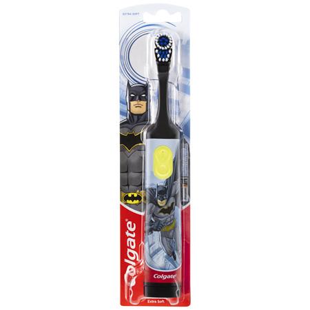 Colgate Kids Batman or Barbie Battery Powered Toothbrush Extra Soft Bristles 3+ Years Characters