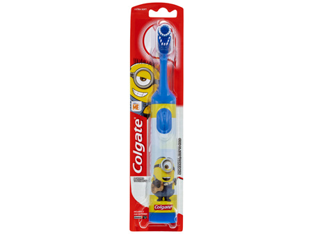 Colgate Kids Minions Battery Powered Toothbrush, 1 Pack, Extra Soft Bristles for Children 3+ Years