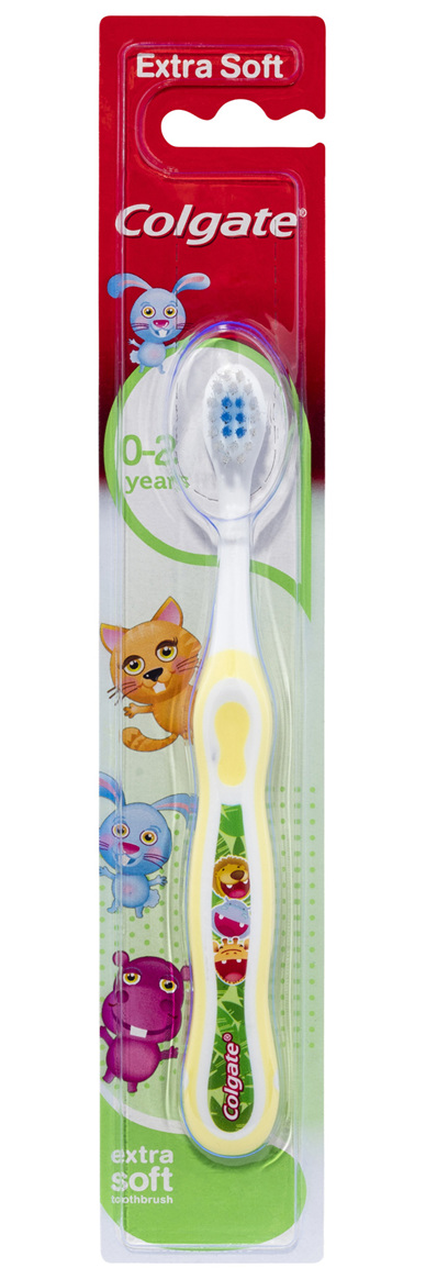 Colgate Kids My First Manual Toothbrush for Toddlers 0-2 Years, 1 Pack, Extra Soft Bristles,