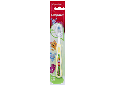 Colgate Kids My First Toothbrush Extra Soft Bristles for Children 0-2 Years