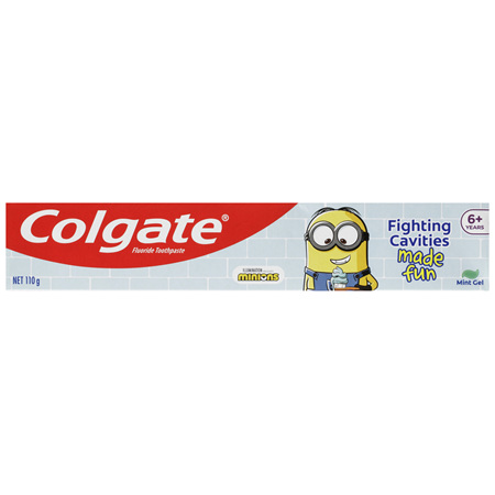 Colgate Minions Kids Toothpaste Sparkling Mint Gel 6+ years 110g