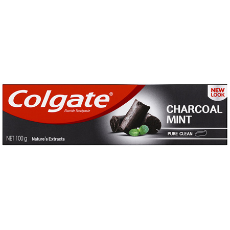 Colgate Nature's Extracts Pure Clean Charcoal + Mint Fluoride Toothpaste 100g