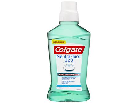 Colgate NeutraFluor 220 Daily Fluoride Alcohol Free Mouthwash Mint 473mL