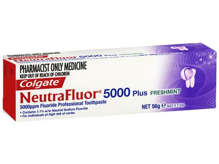 Colgate NeutraFluor 5000 Plus Fluoride Professional Toothpaste Freshmint 56g