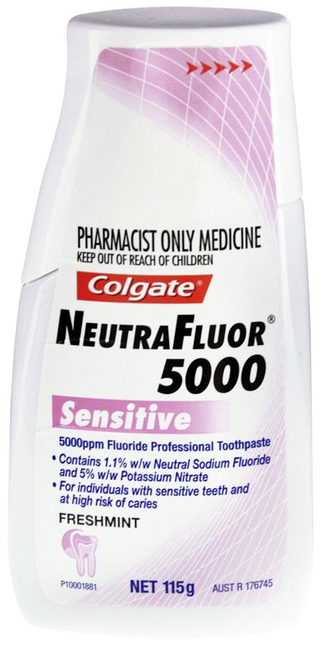 Colgate NeutraFluor 5000 Sensitive Toothpaste Freshmint 115g