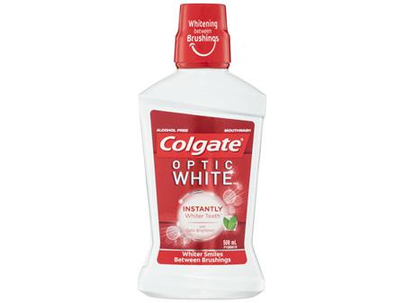 Colgate Optic White Alcohol Free Whitening Mouthwash with Optic Brightener 500mL