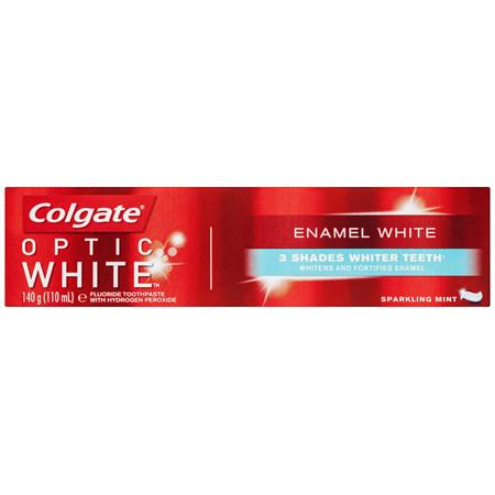 Colgate Optic White Enamel White Teeth Whitening Toothpaste with Hydrogen Peroxide 140g