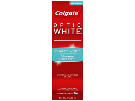 Colgate Optic White Enamel White Teeth Whitening Toothpaste with Hydrogen Peroxide 95g