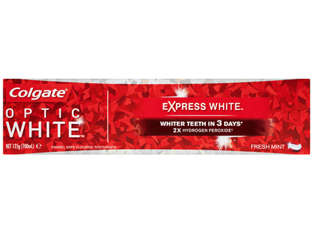 Colgate Optic White Expert Express Teeth Whitening Toothpaste, 125g, Fresh Mint, With 2% Hydrogen