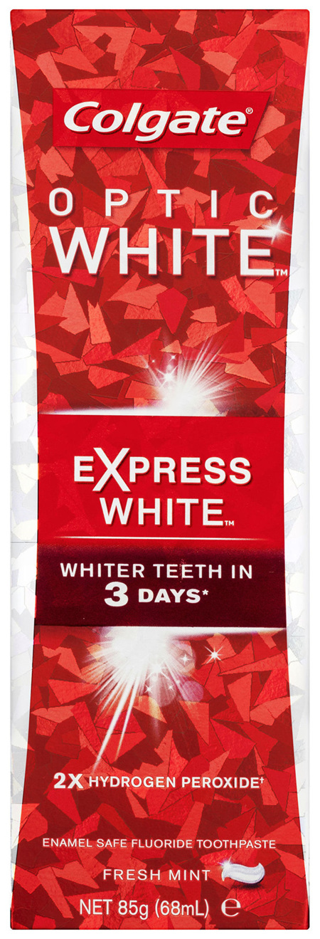 Colgate Optic White Express White Teeth Whitening Toothpaste with hydrogen peroxide 85g