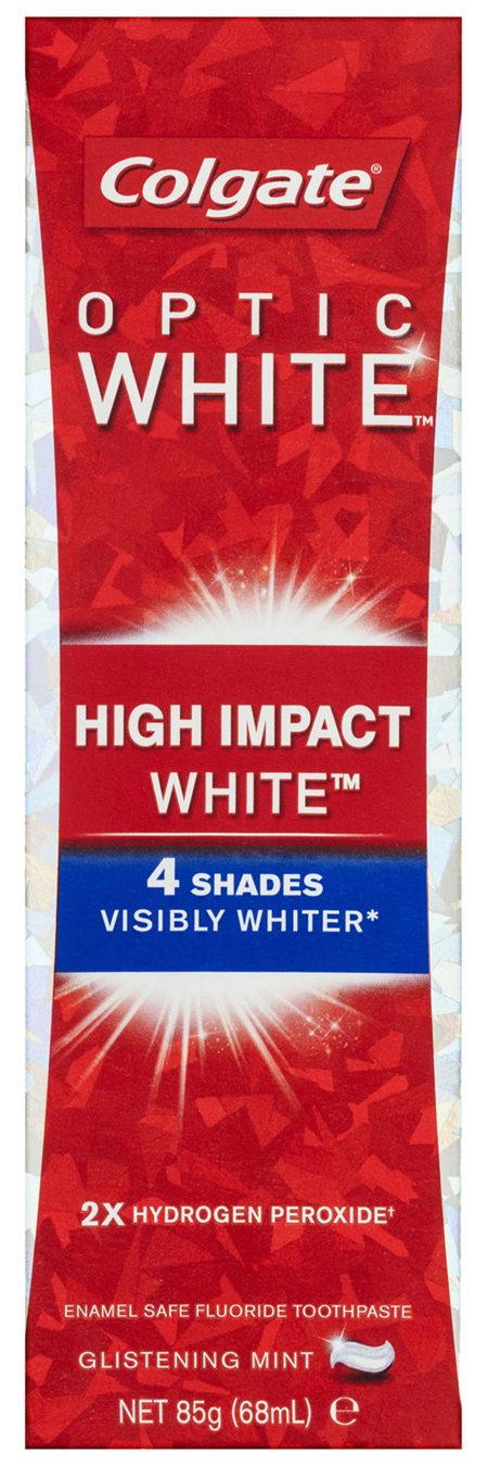 Colgate Optic White High Impact White Teeth Whitening Toothpaste with Hydrogen Peroxide 85g