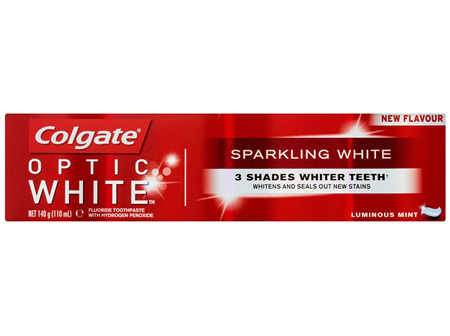 Colgate Optic White Sparkling White Luminous Mint Whitening Toothpaste with hydrogen peroxide 140g