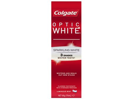 Colgate Optic White Sparkling White Teeth Whitening Toothpaste with hydrogen peroxide 95g