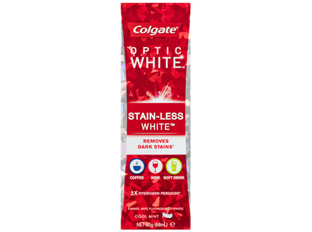 Colgate Optic White StainLess White Cool Mint Whitening Toothpaste with Hydrogen Peroxide 85g