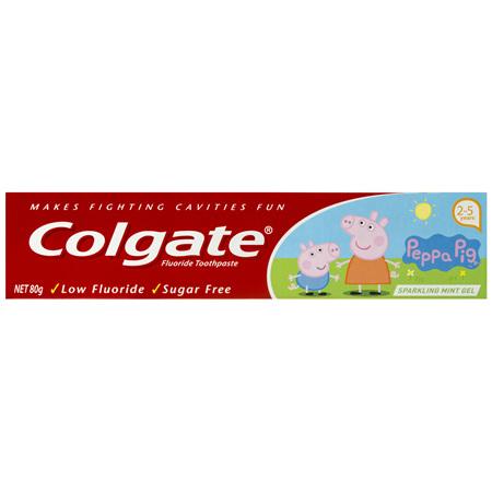 Colgate Peppa Pig Kids Toothpaste Sparkling Mint Gel 2-5 years 80g