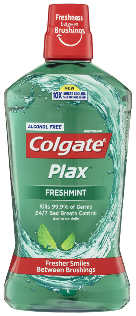 Colgate Plax Alcohol Free Mouthwash Freshmint 1L