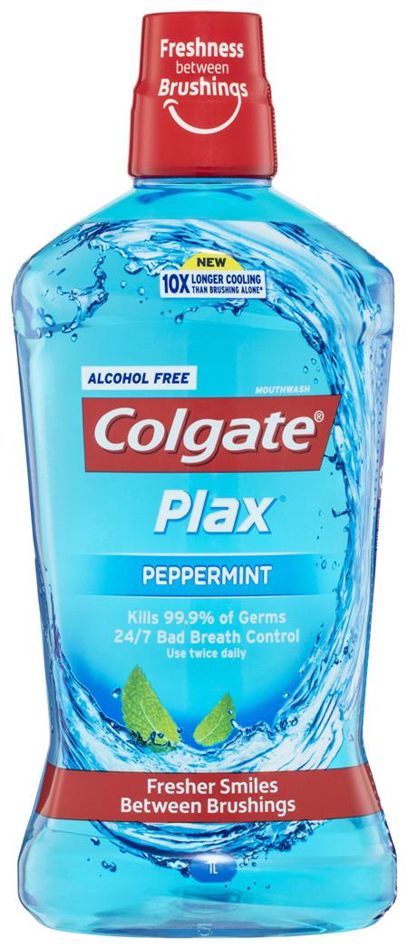 Colgate Plax Alcohol free Mouthwash Peppermint 1L