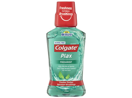 Colgate Plax Antibacterial Alcohol Free Mouthwash Freshmint 250mL