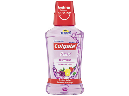 Colgate Plax Antibacterial Alcohol Free Mouthwash Fruity Mint 250mL