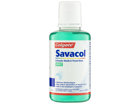 Colgate Savacol Antiseptic Mouth & Throat Rinse Mint 300mL