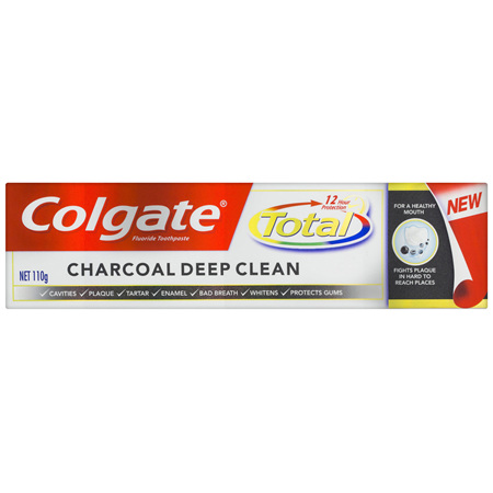 Colgate Total Charcoal Deep Clean 12 Hour Protection Toothpaste 110g