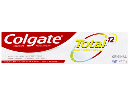 Colgate Total Original Antibacterial & Fluoride Toothpaste 115g