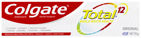 Colgate Total Original Antibacterial Toothpaste 115g, Whole Mouth Health, Multi Benefit