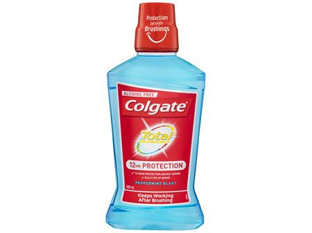 Colgate Total ProShield AlcoholFree Mouthwash Peppermint Blast 500mL