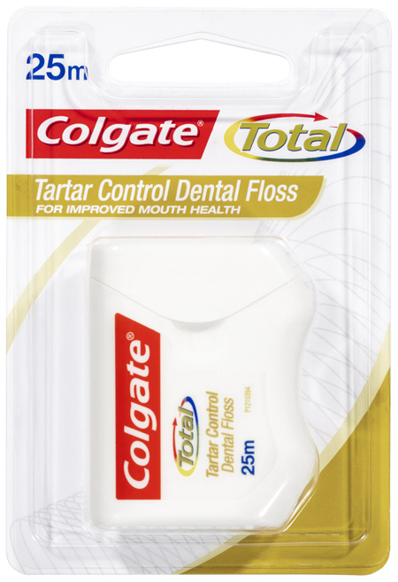 Colgate Total Tartar Control Durable Oral Care Dental Floss 25m