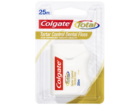 Colgate Total Tartar Control Durable Oral Care Dental Floss 25m