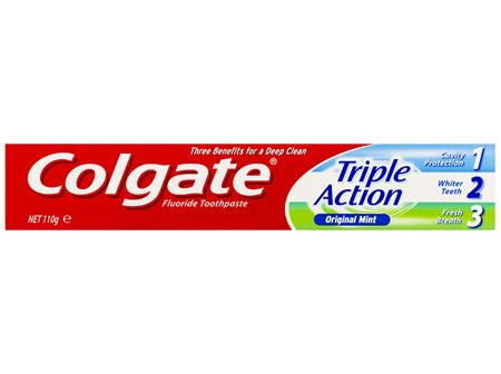 Colgate Triple Action Cavity Protection Fluoride Original Mint Toothpaste 110g