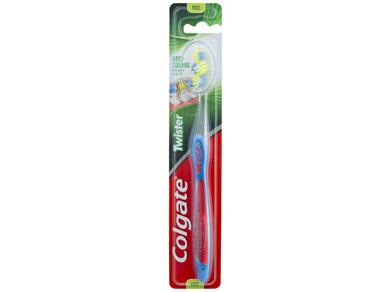 Colgate Twister Manual Toothbrush, 1 Pack, Medium Spiral Bristles, Deep Cleaning