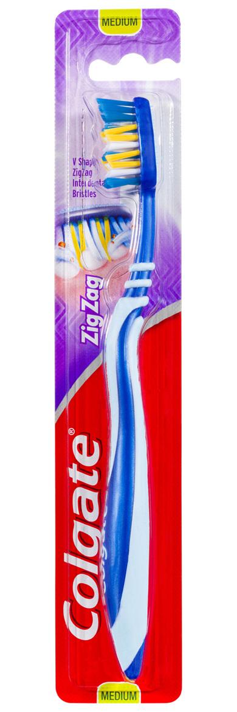 Colgate Zig Zag Deep Interdental Clean 25% Recycled Plastic Medium Toothbrush 1 pack