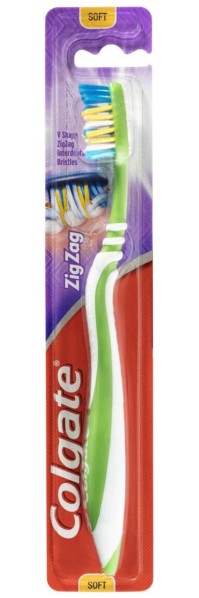 Colgate Zig Zag Manual Toothbrush, 1 Pack, Soft Bristles, Interdental Reach
