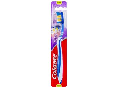 Colgate ZigZag Deep Interdental Clean Toothbrush 25% Recycled Plastic Handle Medium Bristles 1 Pack