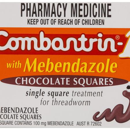 Combantrin-1 Chocolate Squares 4 Pack